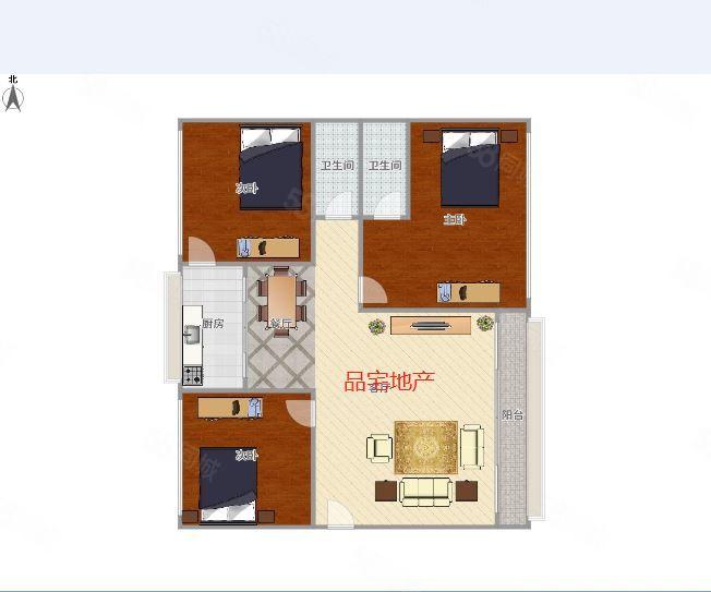 锦丽家园112平三房出售,单价4300多,双证齐全,首付15