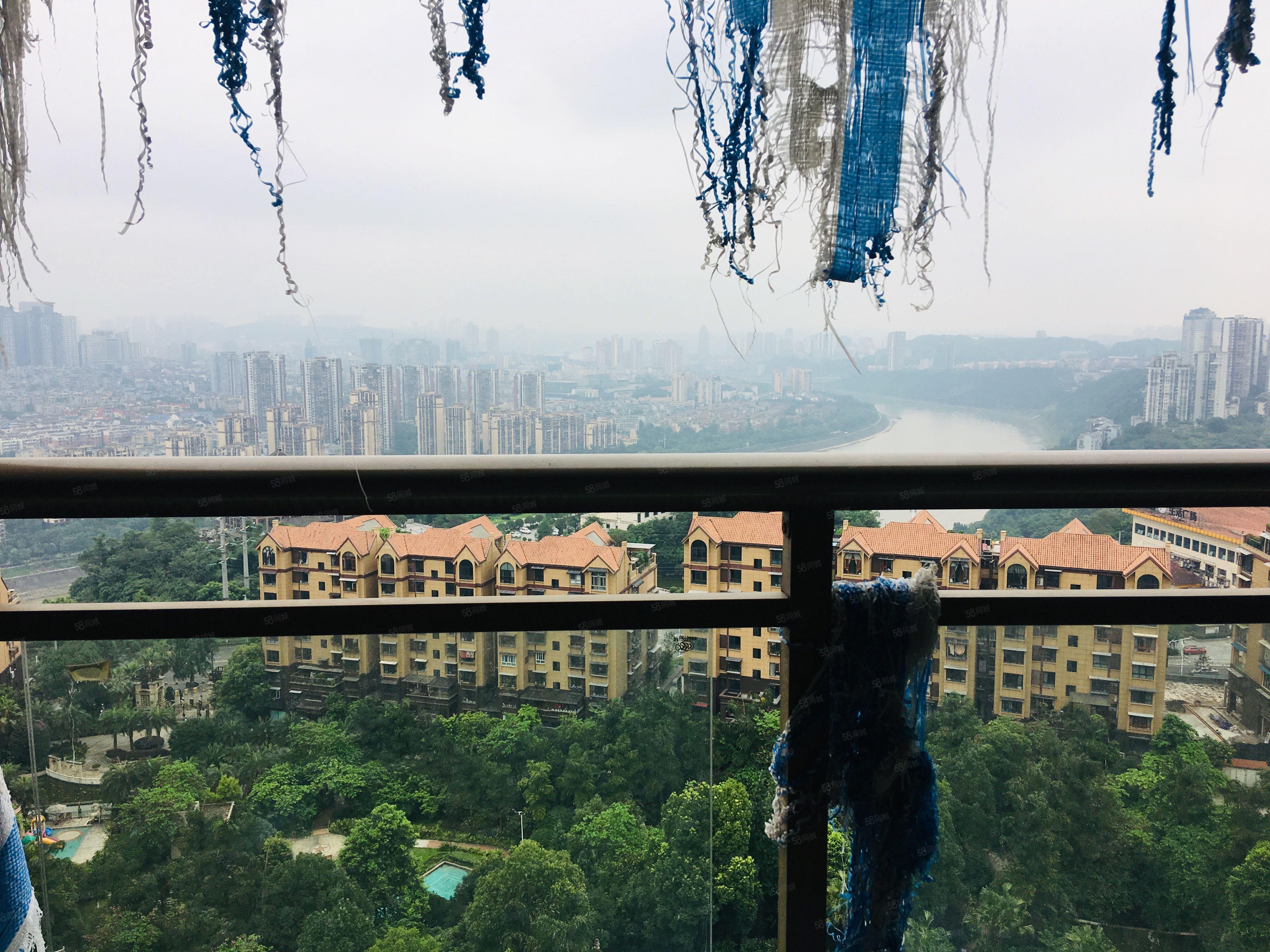 城西恒利澜庭毛坯3房带车位正看江中庭出售
