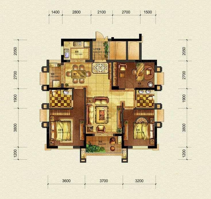 大成郡电梯洋房106平带阁楼50平一室一厅送储藏室183万