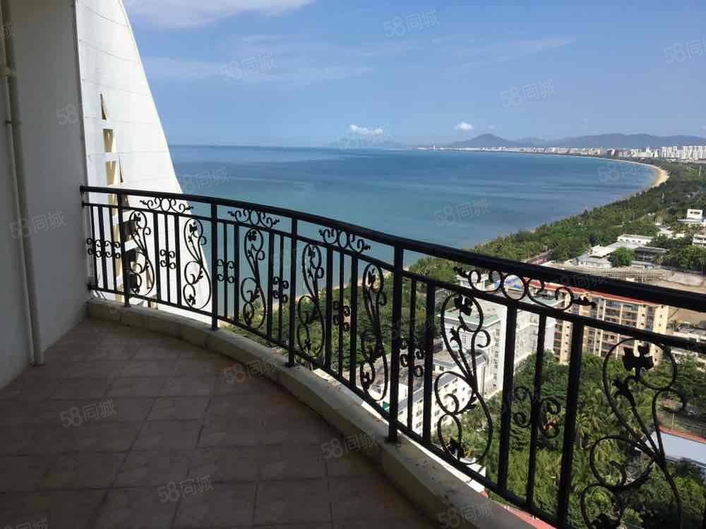 三亚湾蓝天海岸高层无遮挡海景两室躺在床上看海海景厨房