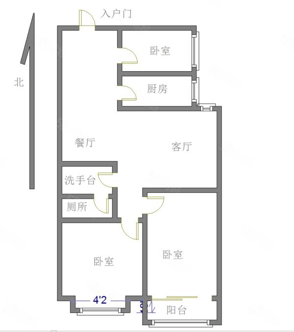 新!曼哈顿中间楼层有钥匙送储随时看房先到先得房东诚心出售