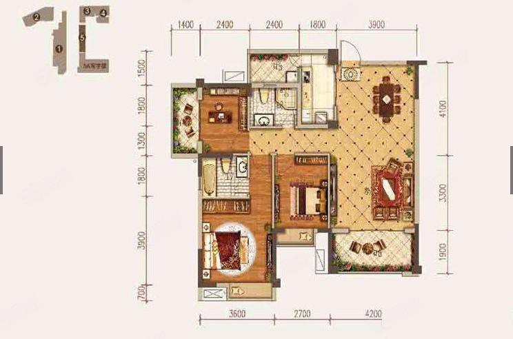 常青藤景觀樓層三室兩廳接受貸款同濟學區房隨時看房