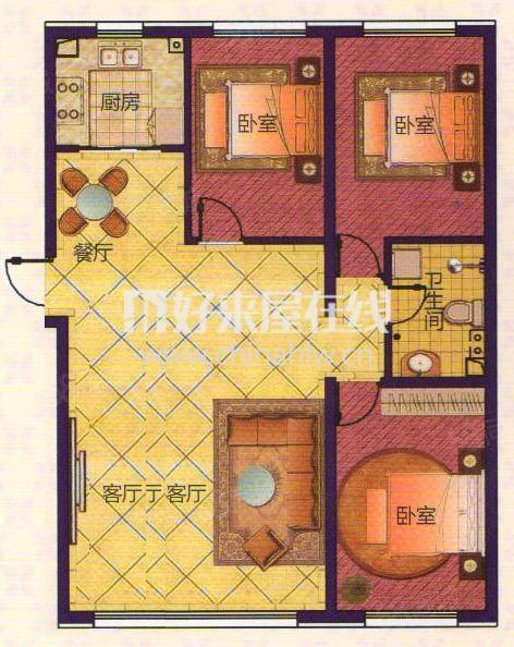 铂宫三室一卫清水房包入住不冷山户型好随时看房子