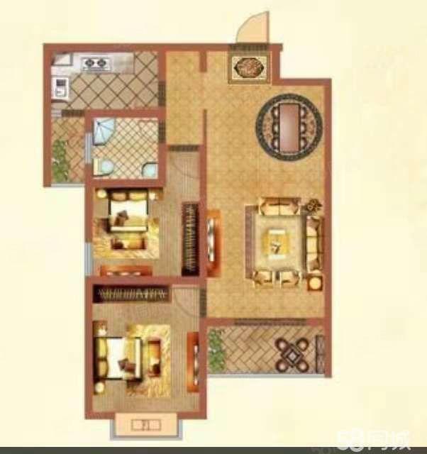 北二小旁边京科龙湾电梯中高层二室一厅全天采光急售