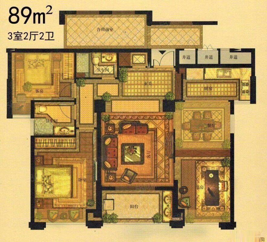 新葡京官网区府96平米新房总价78万均价9000新葡京官网皇家花园