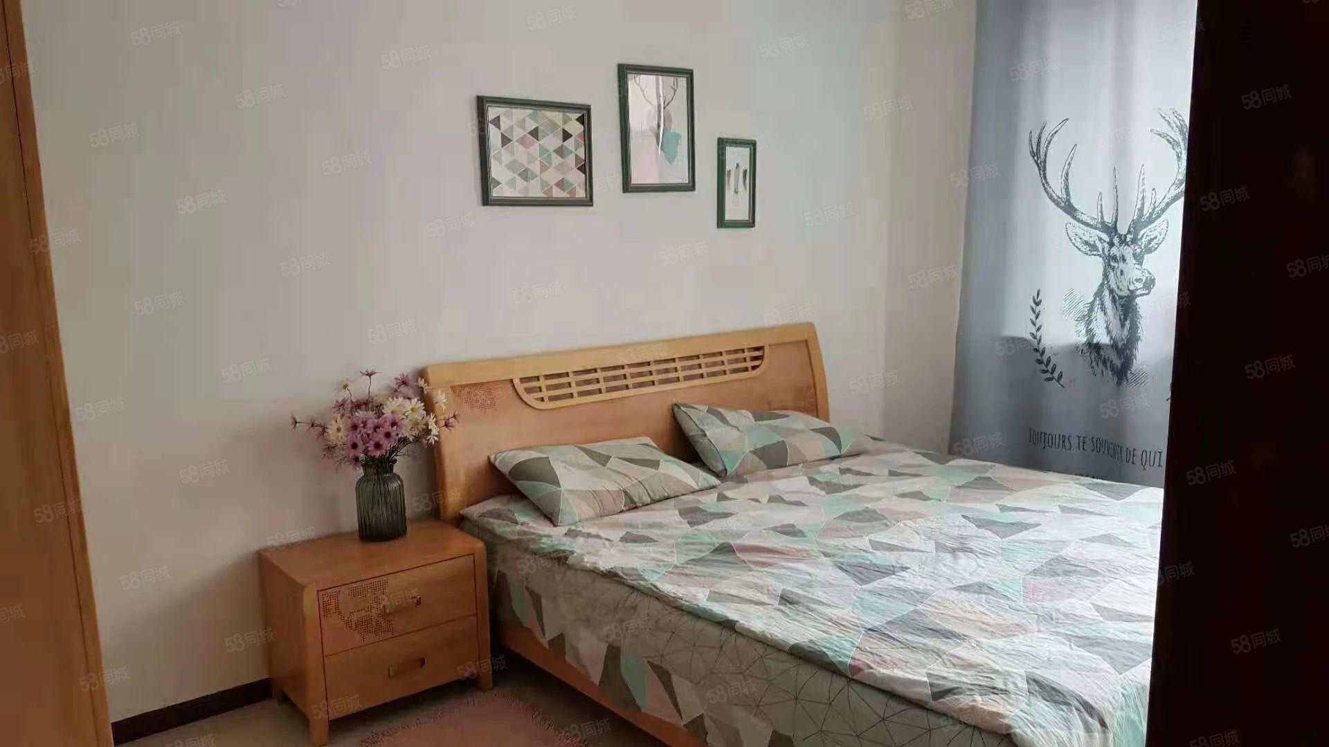 星华家园步梯楼一室一厅拎包入住地中海式装修