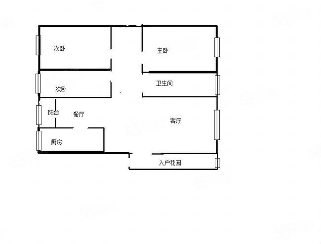 �负咏跣澹�电梯三楼,精装三室两厅一卫