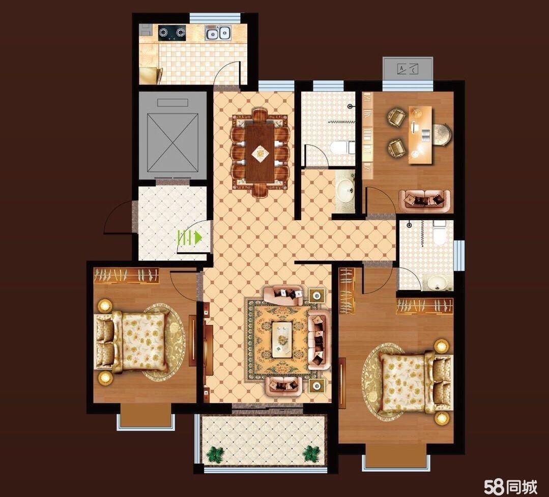 邹城邹城齐鲁时代花园三期田园伟业3室2厅2卫126.12平米79.5万包改合同可贷款