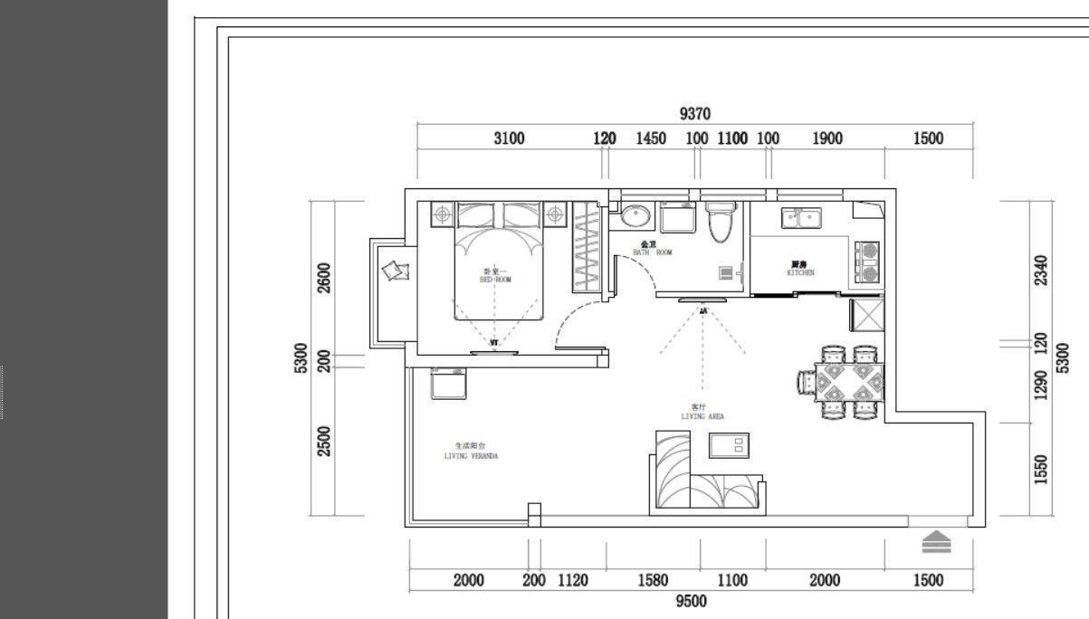 金江镇四季春城2室1厅1卫61平米